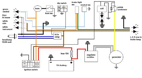 simple wiring diagram yamaha xt500 forum