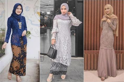 Nah, style kondangan hijab yang satu ini juga bisa banget kamu jadikan inspirasi. 8 Inspirasi Dress & Kebaya Brokat dengan Hijab buat Kondangan