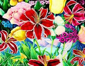 beautiful flower drawings - Mobile wallpapers