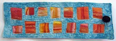 lade applique moderne gefilte quilt potentially modern sided