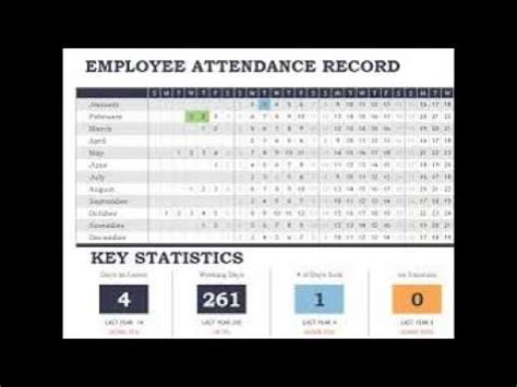 daily staff attendance record template  excel youtube