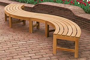 Curved Outdoor Bench: Looks Wonderful! — The Homy Design