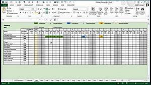 Staff Holiday Planner Excel Template