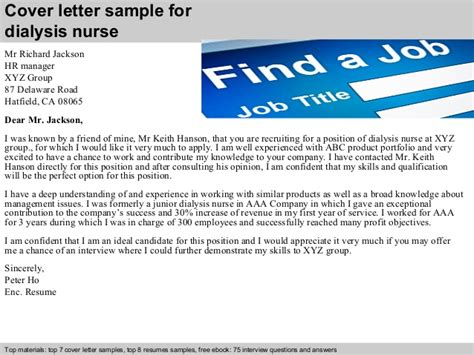 dialysis cover letter