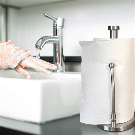 stainless steel kitchen paper towel holder stand