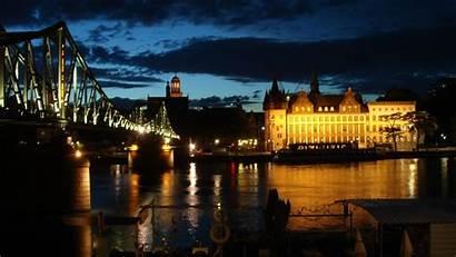 European Wallpapers Europe Bridges Night Bridge Germany
