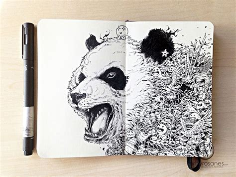 incredibly detailed  doodles  kerby rosanes