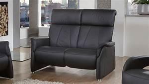 Relaxsofa 2 Sitzer : sofa adair 2 sitzer relaxsofa in echtleder schwarz 144 cm ~ Watch28wear.com Haus und Dekorationen
