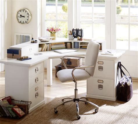 pottery barn bedford office desk calculated space how to set up your home office