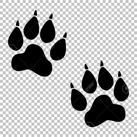 animal clipart  transparent background blsck  white
