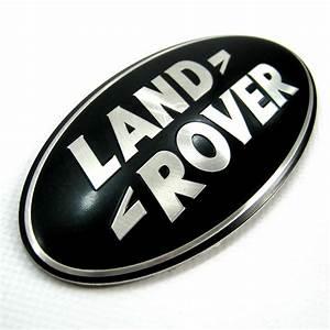 Land Rover Freelander 1 BLACK+SILVER rear door badge oval ...