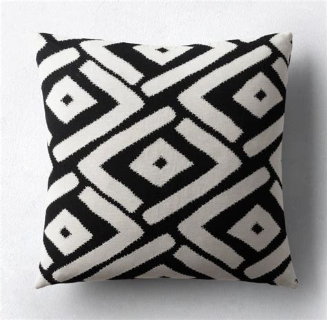 black and white pillow patio furniture and decor trend bold black and white
