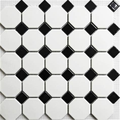 buy mosaic tile matt black and white wall floor tiles