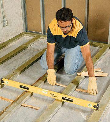install subfloor concrete framing sleeper floors preparing the floor flooring prep home improvement pinterest