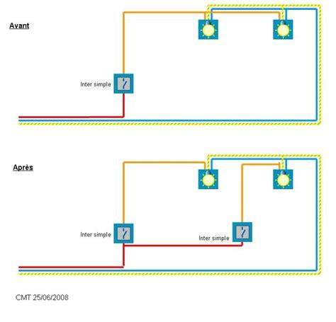 deux les sur un interrupteur schema installation 233 lectrique branchement phase interrupteur alimenter seconde le
