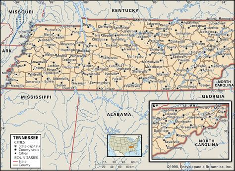 tennessee capital map population history facts