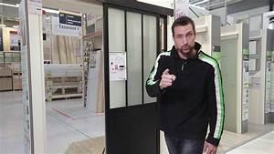 cyrille vous presente la porte coulissante atelier youtube With porte douche atelier
