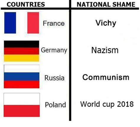 Find the newest germany vs france meme. COUNTRIES NATIONAL SHAME France Vichy Germany Nazism ...