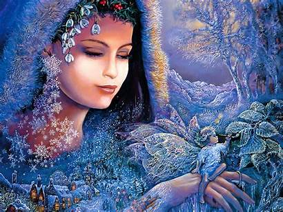 Wallpapers Modern Paintings Desktop Painting Winter Artist