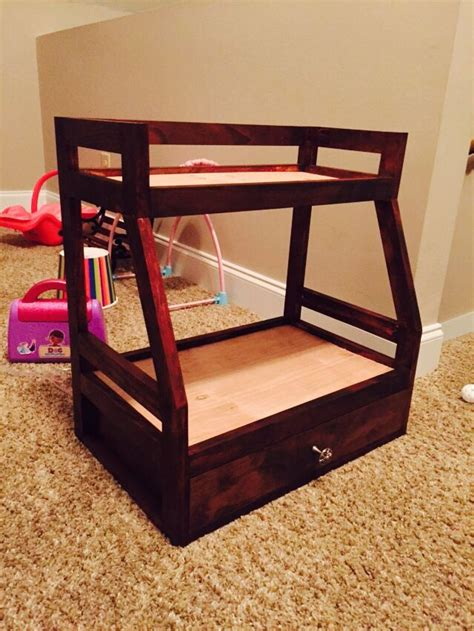 american girl doll bunk bed  trundle custom home