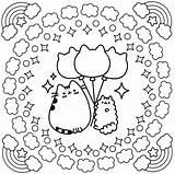 Coloring Pages Pusheen Cute sketch template