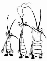Oggy Cockroaches Coloring Pages Characters Drawing Famous Cartoon Cockroach Et Les Colouring Drawings Printable Cafards 70s Tocolor Pranks Ausmalbilder Clipartmag sketch template