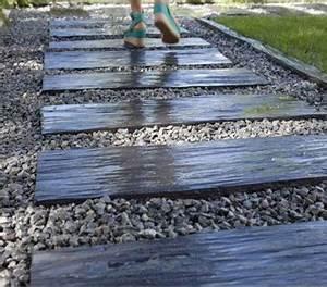 Dalle De Cheminement : pas japonais pour am nager une all e d co dans le jardin ~ Melissatoandfro.com Idées de Décoration