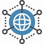 Icon Network Global Communication Internet Connection Canva