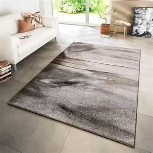 Teppich Wohnzimmer Grau : teppich modern wohnzimmer webteppich wellen style meliert in grau beige moderne teppiche ~ Markanthonyermac.com Haus und Dekorationen