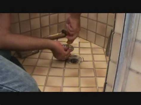 replacing  shower drain cover youtube
