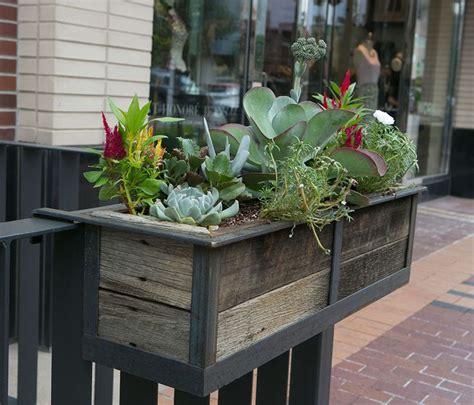 ideas  railing planters  pinterest