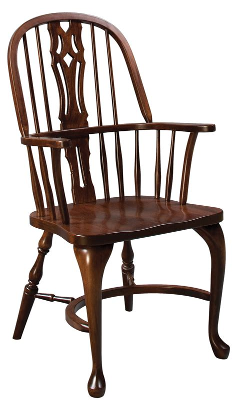 eh shenandoah bow back arm chair amish furniture