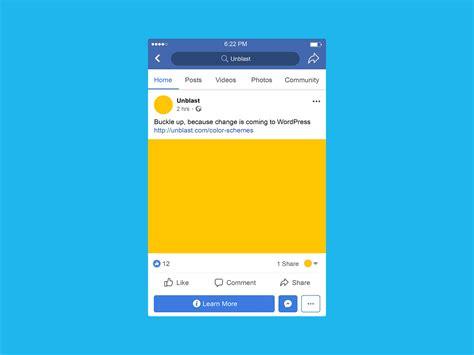 Facebook Mobile Post Mockup (psd