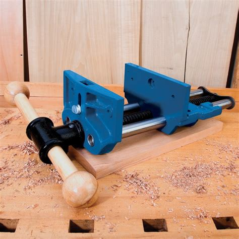 woodworking bench vice 7 quot release workbench vise rockler woodworking and