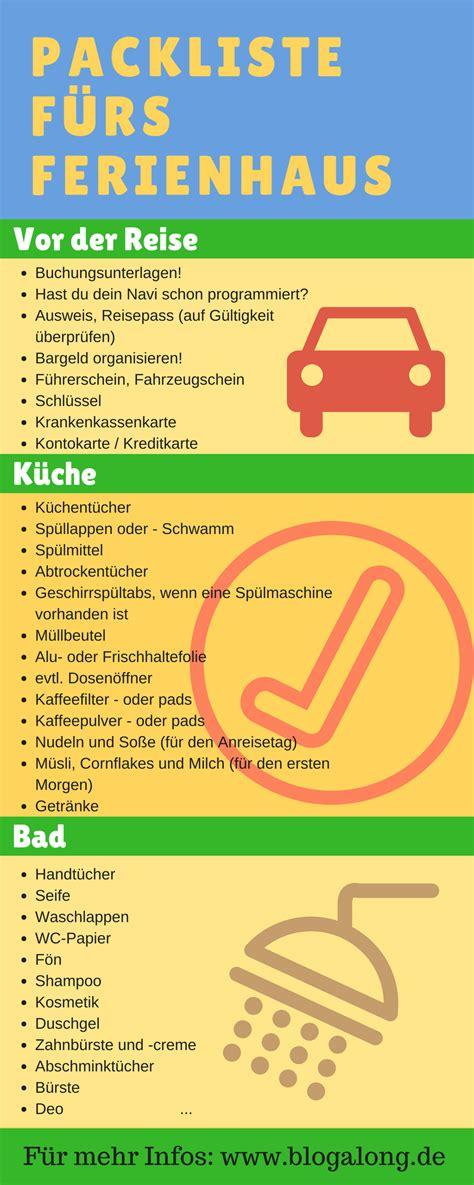 Checkliste Urlaub Alles Im Gepaeck by Urlaub Im Ferienhaus Deine Ultimative Packliste Inkl