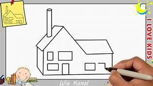 Haus Strichzeichnung Einfach : haus zeichnen schritt f r schritt f r anf nger kinder haus zeichnen lernen 3 youtube ~ Watch28wear.com Haus und Dekorationen
