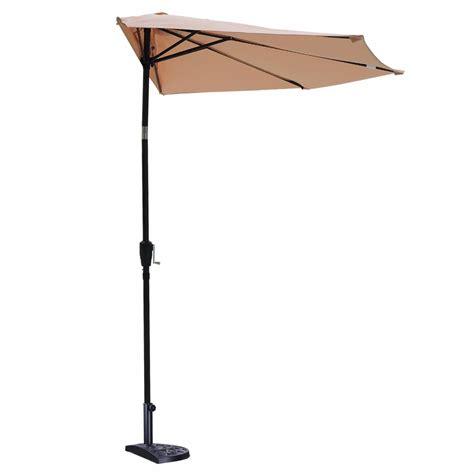 20 quot patio outdoor umbrella semicircle base stand market