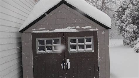 rubbermaid 7x7 shed rubbermaid 7x7 big max shed review in snow