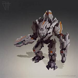 Futuristic war robot by juannahuel on DeviantArt