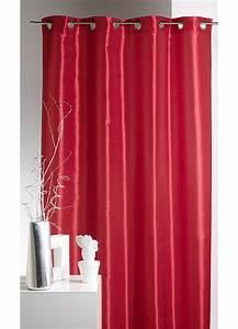 Rideau Couleur Or : rideau ameublement en taffetas uni de couleurs rouge mandarine homemaison vente en ~ Teatrodelosmanantiales.com Idées de Décoration
