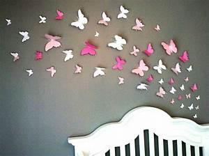 Papillon Papier De Soie : d coration murale papillon ~ Zukunftsfamilie.com Idées de Décoration
