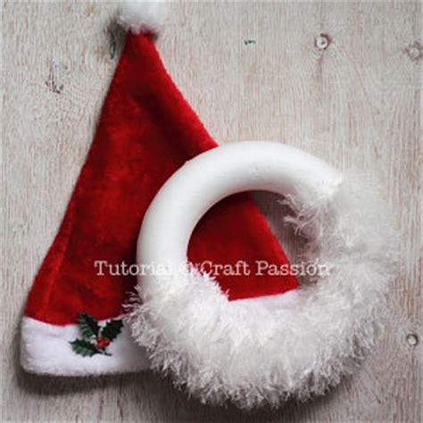 santa wreath noel letters christmas diy craft passion