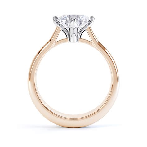 compass set  claw  solitaire ring
