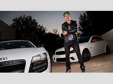 Professional Skateboarder Nyjah Huston Shows Off his Cars