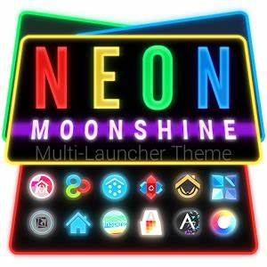 Neon Moonshine Launcher Theme