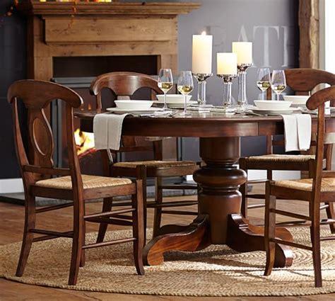 pottery barn kirkwood dining table tivoli extending pedestal dining table pottery barn