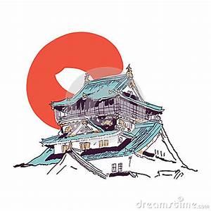 Maison Japonaise Dessin : dessin japonais de maison photos stock image 34613403 ~ Melissatoandfro.com Idées de Décoration