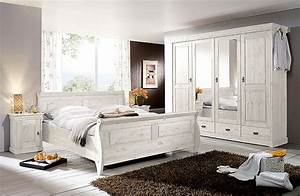 Schlafzimmer weiss kiefer komplett massivholz m bel in for Schlafzimmer massivholz weiß