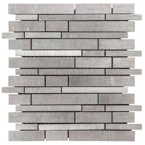 tile home depot jeffrey court silver chain 12 in x 12 in x 8 mm metal mosaic wall tile 99589 the home depot