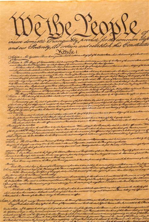 united states constitution stock photo image